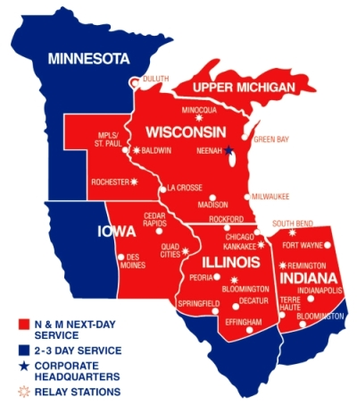 Saia motor freight service map for Aci motor freight inc